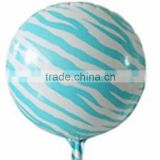 Hot! Multi-colors Zebra Stripes Foil Balloons , Wedding Birthday Party Balloons, 18inch inflatable Helium Ballons.