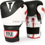 Boxing Gel Suspense Training Gloves - Black/White Crafted from select hides of full grain leather Boxing Gloves