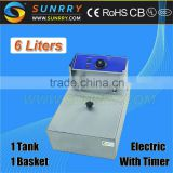Counter Top Potato Fryer 1 Tank 1 Basket With Timer Water and Oil Electric Fryer (SY-TF16B SUNRRY)