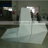 fibreglass Planter for Interior Design project/Indoor use flower container/stylish white fibreglass pot