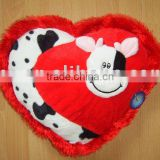 JM7388-4 decorative cushion, cow cushion, heart shape cushion