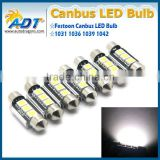 CANBUS for BMW 5 series E34 E39 E60 Number Plate Light LED Bulbs C5W 39mm 3 LED