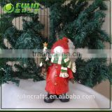 wholesale christmas ornament suppliers standing snowman sculpture resinic figurine