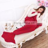 2016 super soft crochet knitted mermaid tail dress blanket                                                                                                         Supplier's Choice