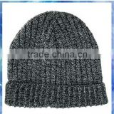 100% acrylic mixed knit men's beanie/knitting patterns men hats/machine knit acrylic beanie