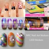 Hottest Stickers NFC Nail Sticker With LED Light DIY Shine Light Up Flash Led Nail Art Stickers