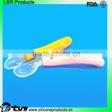 Bendable Banana Shape Silicone Baby Training Toothbrush For Infants