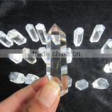 2015 factory direct natural rock clear quartz crystal prism wand,clear crystal point