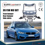 Body kit for 2014 up 3 series F30 F35 M3 style for bmw f30 m3 body kit