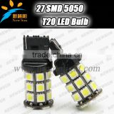 T20 7440 27 SMD 5050 LED Bulb Car Turn signal Brake Stop Light White Blue Red Yellow 12V Reverse Backup Light Vehicle Rear Lamp