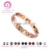 New Product rose gold Fashion rhinestone titanium Women Cubic Zirconia Magnets Cross germanium Health Bracelet