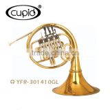 High quality yellow brass gold lacquer French horn