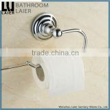 Sleek Bathroom Fittings Zinc Alloy Chrome Finishing Bathroom Sanitary Items Wall Mounted Toilet Paper Holder