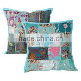 Cushion Cover Embroidery Design Hand Made Patchwork Home Textile Square Rajsthani Cushion Covers