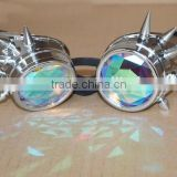 Cool style steam punk kaleidoscope glasses for music festival