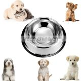 Stainless Steel Dog Bowls With Rubber Base Non-Skid Classical Food Bowl,Water Bowl For All Pets Rust Resistant (Various Sizes Av