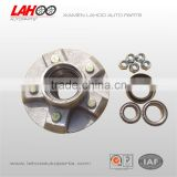 Small trailer axle lazy wheel hub