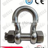 Carbon steel screw pin ss shackles us type