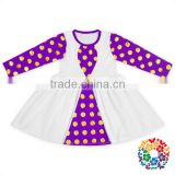 Long Sleeve One Piece Dress Party For Kids Beautiful Baby Cotton Frocks Designs Wholesale Plain Girls Dresses