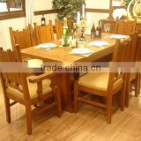 Antique Wooden tables and chairs sets dinning room furniture