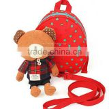 lovely red bear baby walking harness