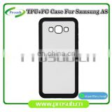 2d sublimation heat transfer PC +TPU silicon blank cell phone case for Prosub-Samsung A8
