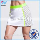 Yihao Custom Women White Tennis Skirt Sportswear Fitness Dress Clothing Wholesale