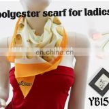 2016 top hot sale fashion digital print polyester turkish chiffon yarn square scarf made in factory hot sale women scarf