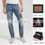 men skinny stretch distressed used denim pants oem & odm manufacturer