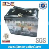Large Handle Tin Lunch Box