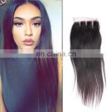 Dropship frontal lace closure with bundles, 3 way part 4x4 brazilian human hair lace closure