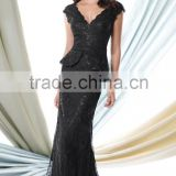 Elegant Mother of the Bride Dress with Lace and Sequined High Quality V-Neck Sleeveless Sheath Mother of the Bride Dress