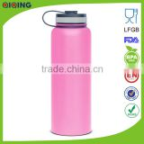 Pink 40oz(1.18L)2014 Stainless Steel Water Bottles,stainless tumbler with straws HD-103D-1