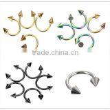 Wholesale Nose studs piercing jewelry 316l surgical stainless steel Body Piercing Jewelry