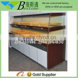 modern wholesale wood bread display rack shelves for sale