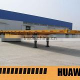 40ft double axles flat bed truck trailer