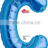 Factory wholesale 34 large blue foil letter balloon for party decorations                                                                                                         Supplier's Choice