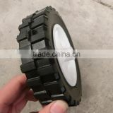 6x1.5 semi solid rubber wheel for toy cart