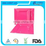Disposable square plastic party plate