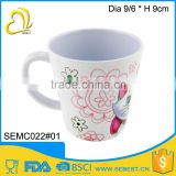 custom print melamine plastic cup handle