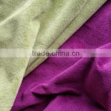 2015 New Fashion Cheap Polyester Plain Dyed Soft Velour Fabric For Upholstery And Garment