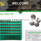 Bulk tray Alkaline Manganese button Cell 0% Hg Pb AG13 LR44 Battery for Watch/Calculator