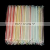 Bubble tea material supply plastic striped color colorful bubble tea straws
