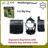 rechargeable and waterproof electric fence energizer & 300 meter remote dog training collar
