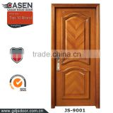 exterior wood door custom flush panel simple carving teak wood door design                                                                         Quality Choice