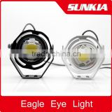 Led Car Fog Lamp Super Bright 1000LM 10W DRL Eagle Eye Light Daytime Running Lights Reverse Backup Parking Waterproof