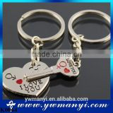 New Couple I LOVEYOU Heart Keychain/Keyring Lover Novelty Souvenirs Key Chain Gift For Wholesale K0064