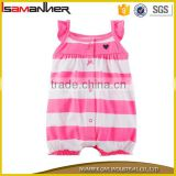 Wholesale party wear stripe ruffle sleeve summer soft adult baby romper                                                                                                         Supplier's Choice