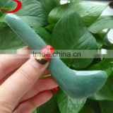 Chinese Guasha board Xiuyan jade facial massager skin care gua sha board small gemstone handy portable body massager
