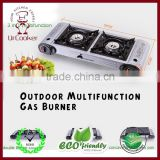 Outdoor multifunction gas burner barbecue grill